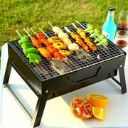 Zimtown Mini portable Folding Notebook Charcoal Grill barbecue grill camping bbq outdoor cooking