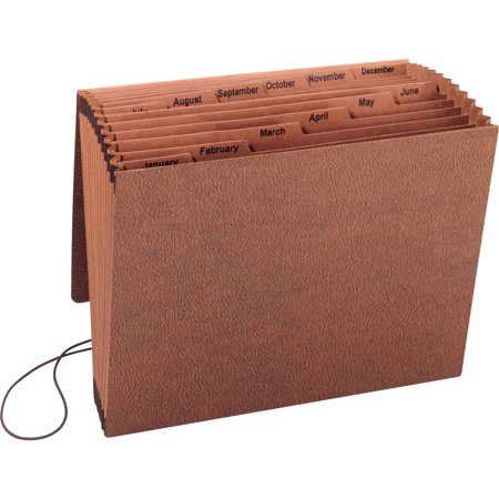 Sparco, SPR23682, Flap Close January-December Heavy-duty Accordion File, 1 Each, Brown