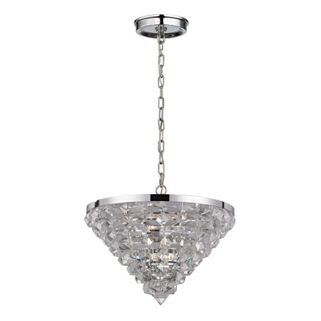 Elk Lighting Crystal Ice Collection 5 Light Pendant In Polished Chrome - 46054/5