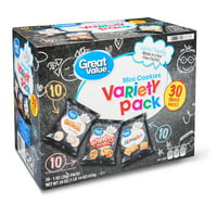 Great Value Mini Cookies Variety Pack, 1 oz, 30 Count