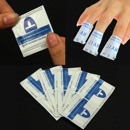 Gel Polish Removers Acetone Pads Foil Wraps Nail Art Cleaner 10Pcs