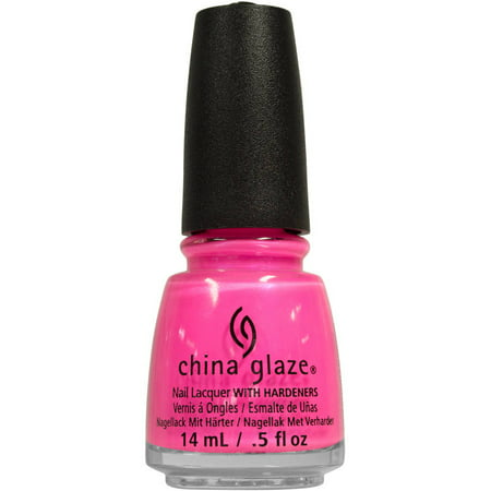 China Glaze Nail Lacquer with Hardeners, Hang-Ten Toes, 0.5 fl oz