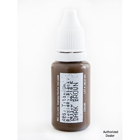 BIOTOUCH Permanent Makeup Microblading DARK BROWN Cosmetic Color Tattoo Ink 1/2 oz
