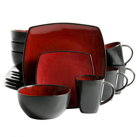 Gibson Home Soho Lounge Square Stoneware 16-piece Dinnerware Set
