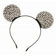 Rhinestone & Pearl Mouse Ears Headband Halloween Costume Accessory