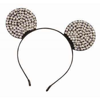 Rhinestone & Pearl Mouse Ears Headband Halloween Costume - Pearl River Patch Halloween