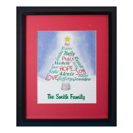 Personalized Family Portrait (Personalized Family Christmas Tree Print )