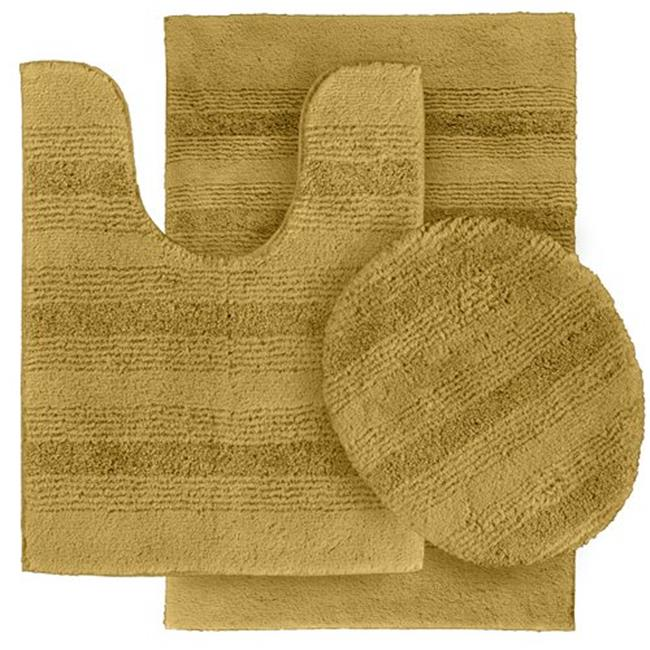 Garland Rug ENC-3pc-05 Essence Nylon Washable Bathroom 3 Piece Rug Set Linen