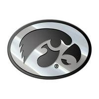 NCAA Iowa Hawkeyes Premium Metal Car Emblem, MEU025