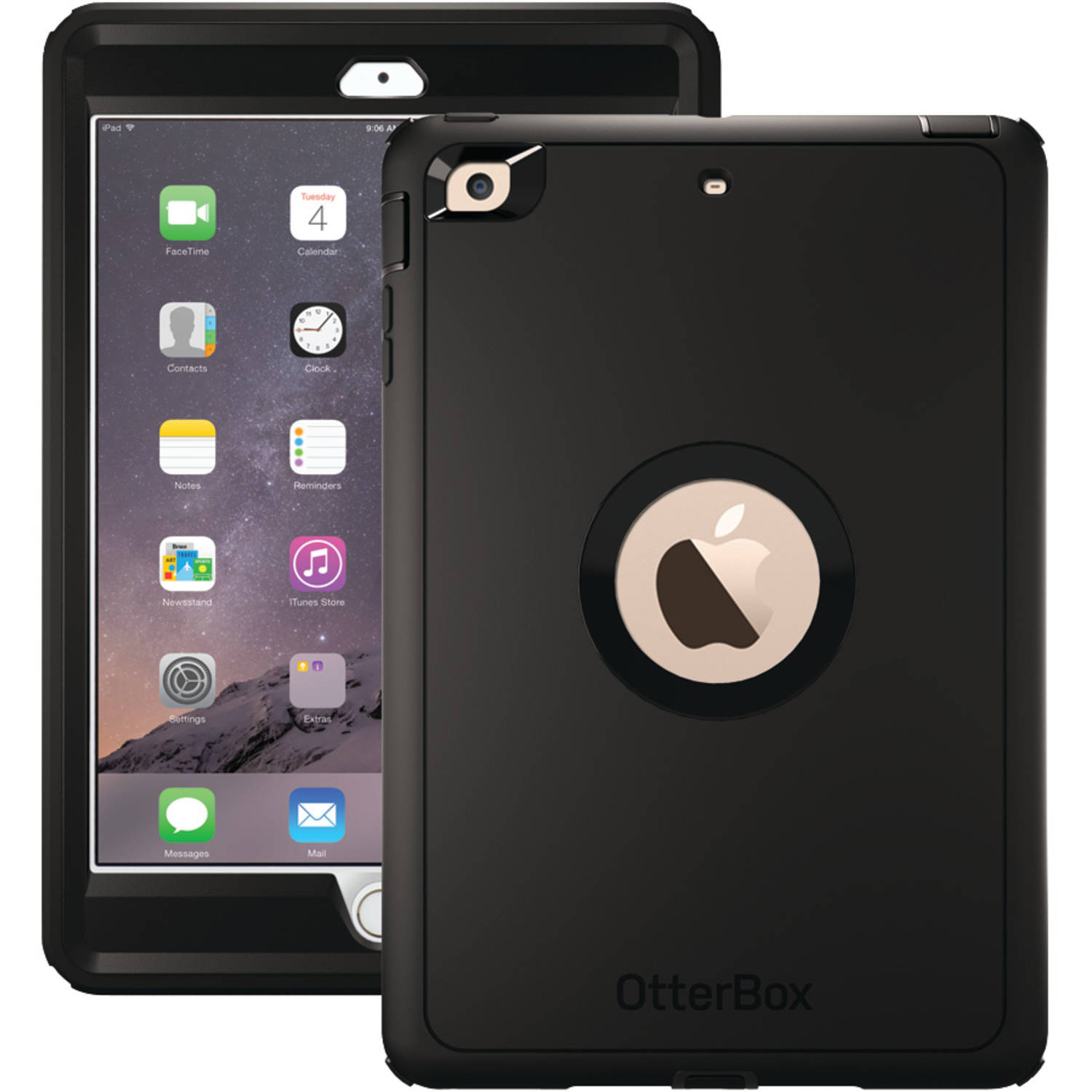 OtterBox Defender Series Case & Stand for Apple iPad Mini 4 - Black (Certified Refurbished)