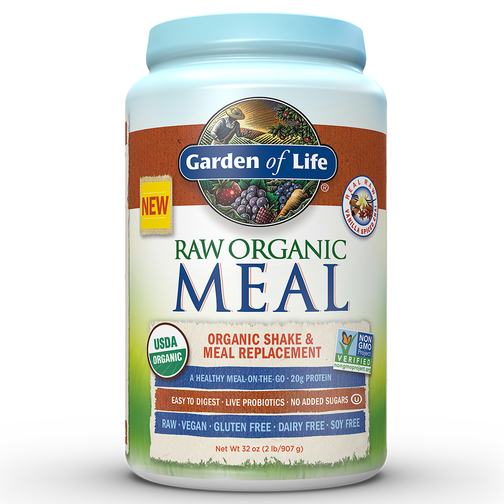 Garden of Life Raw Organic Meal Vanilla Chai 32oz (2lb / 907g) Powder