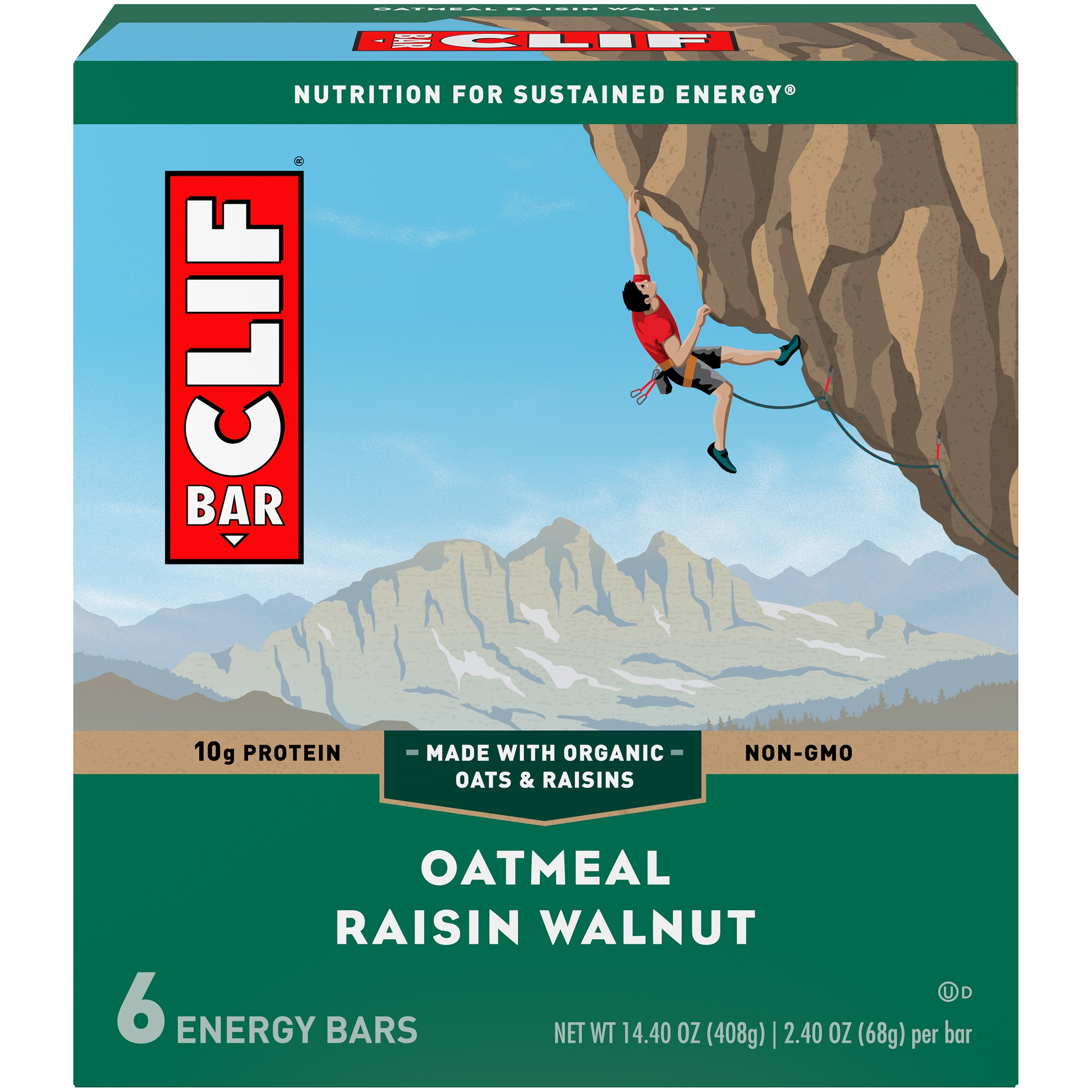 Clif Bar® Oatmeal Raisin Walnut Energy Bars 6-2.4 oz. Bars - Walmart.com