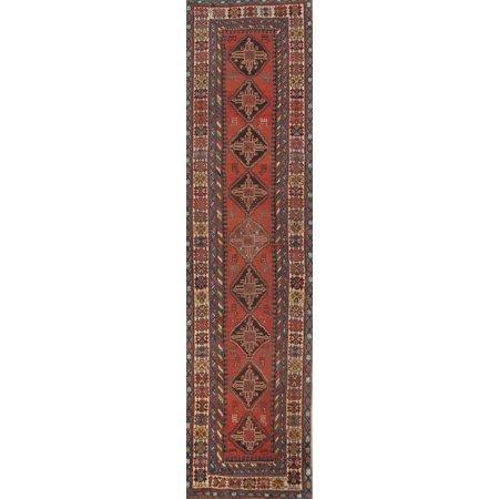 Pre-1900 Antique Tribal Caucasian Kazak Heriz Oriental Runner Rug 12' 11