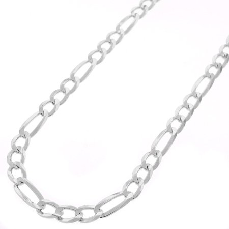 Mens Figaro Link Chain (Sterling Silver Italian 5mm Figaro Link ITProLux Solid 925 Necklace Chain 16
