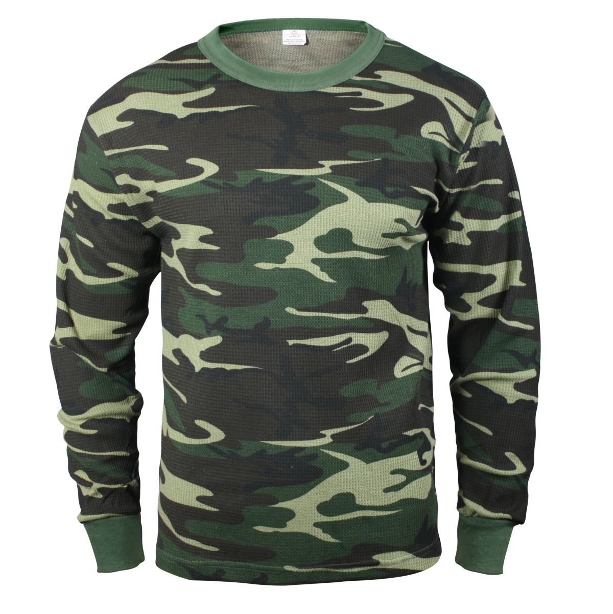Woodland Camouflage Thermal Shirt, Long Underwear Top