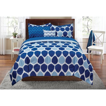 Mainstays ikat bed in a bag bedding set for Better homes and gardens bed in a bag