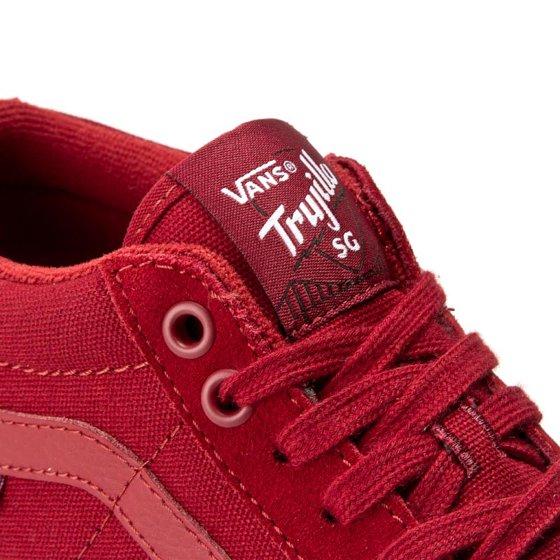 d63212a08e Vans - Vans Men s Tnt Sg Red Dahlia Ankle-High Suede Skateboarding ...