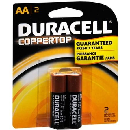 6 Pack - Duracell Coppertop AA Alkaline Batteries 1.5 Volt 2 Each