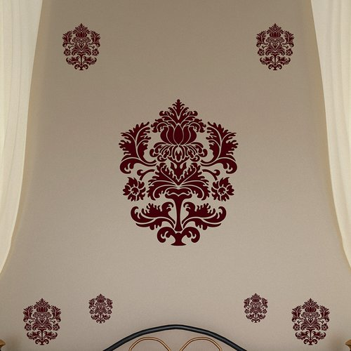 Brewster Home Fashions Spirit Damask Wall Decal