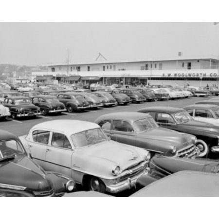 USA New York Yonkers Parking area at Cross County Center the worlds largest suburban shopping center Canvas Art -  (24 x (Cross County Center)