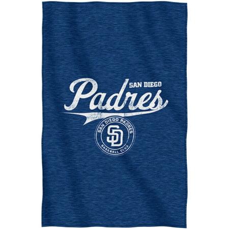 "MLB San Diego Padres ""Script"" 54"" x 84"" Sweatshirt Throw by"