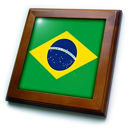 20a99adad40 3dRose Flag of Brazil - Bandeira do Brasil - Brazilian green yellow rhombus  with dark blue