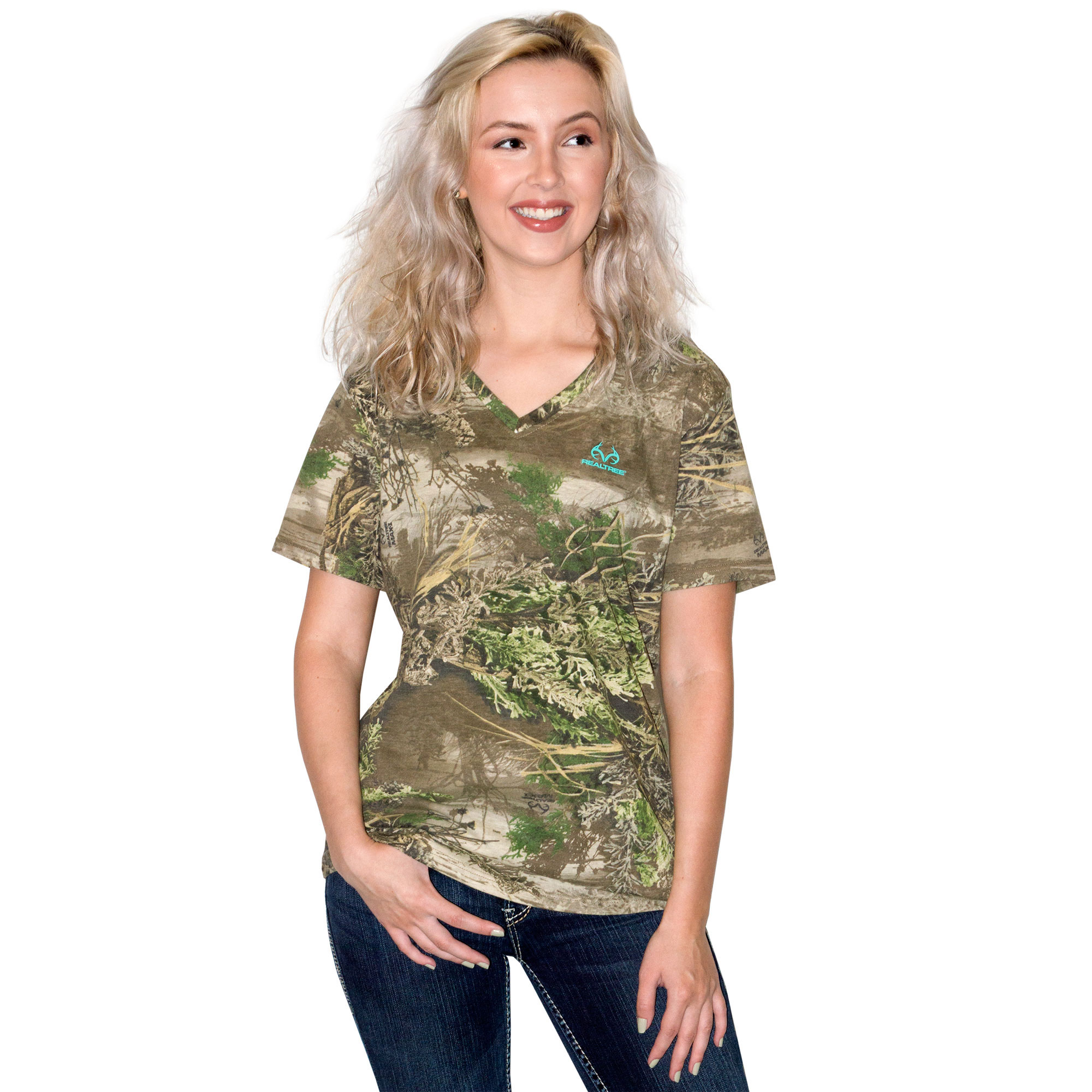 Ladies Short Sleeve Camo Shirt Realtree by Mahco Inc