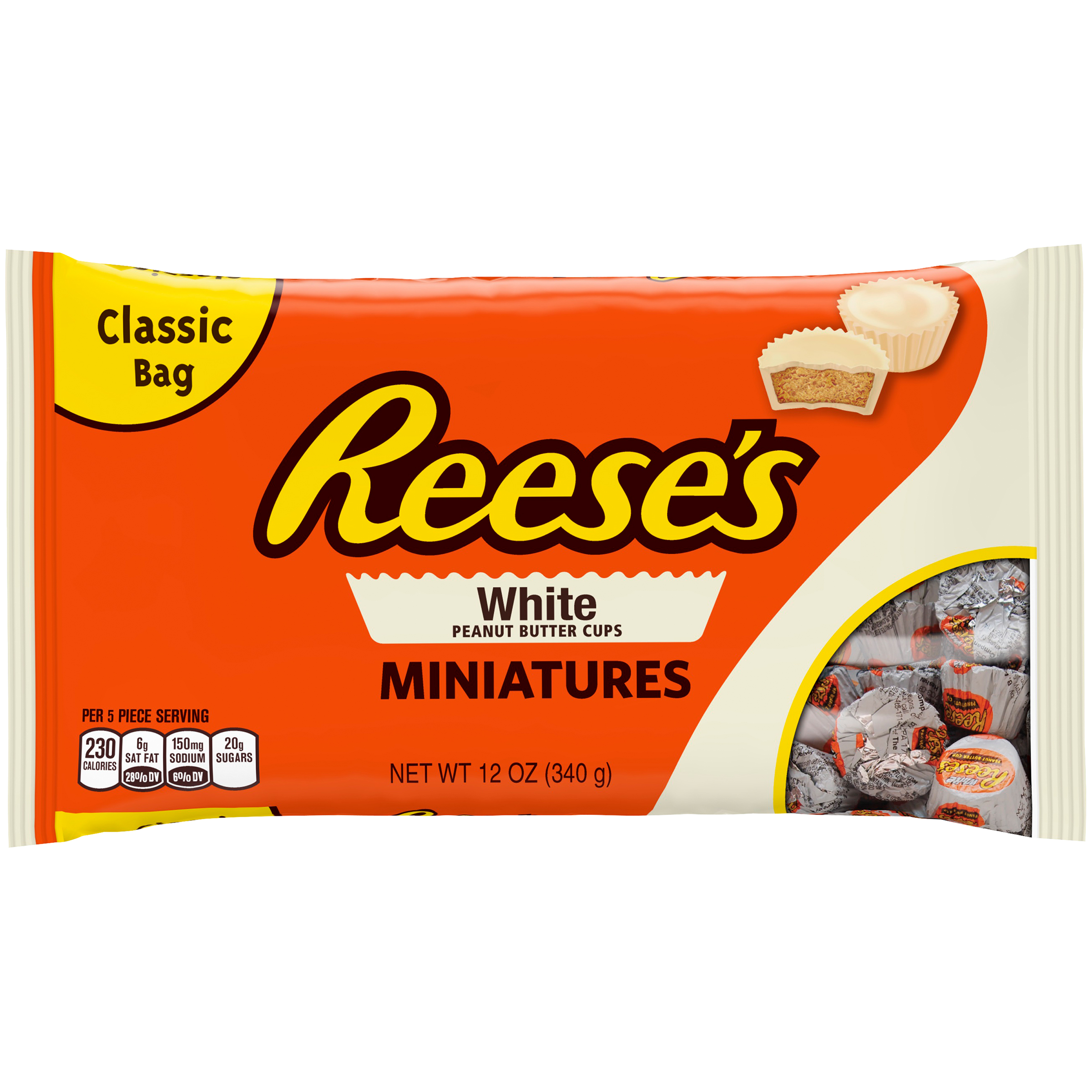 REESE'S White Peanut Butter Cups Miniatures, 12 oz