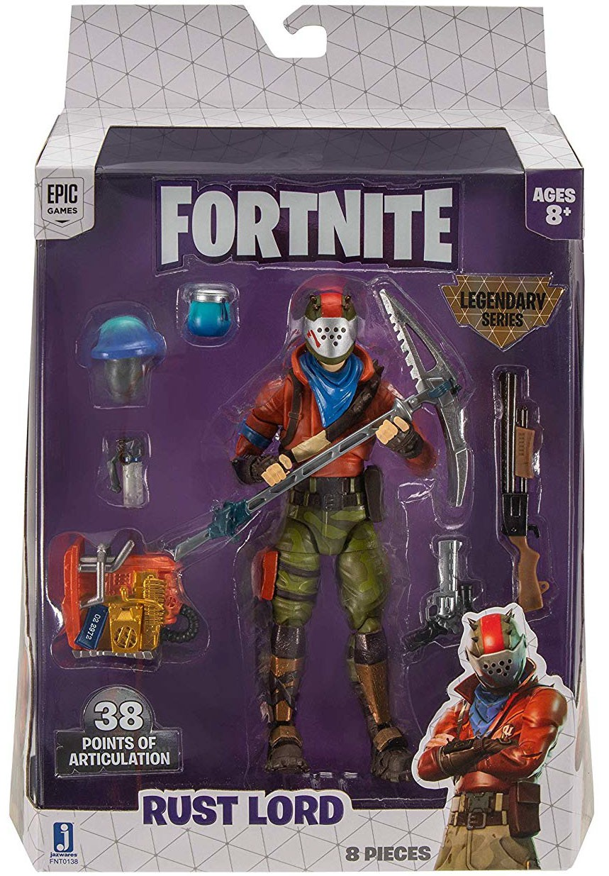 Fortnite Game Legendary Series *RUST LORD* Articulated Figure /& Weapon 8 Pieces