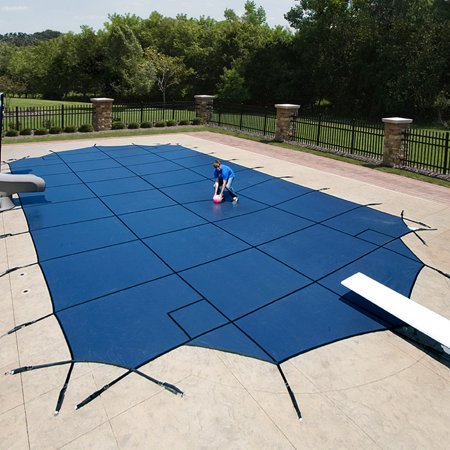 Arctic Armor WS425G 18-Year Mesh In-Ground Pool Safety Cover - Green / 25-ft x 45-ft Arctic Armor Green Mesh