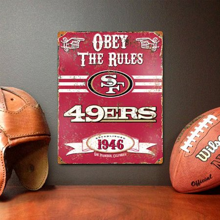 Nfl Pub Sign - Party Animal NFL San Francisco Forty Niners Vintage Sign