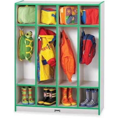 Jonti-Craft 1 Tier 4-Section Coat Locker