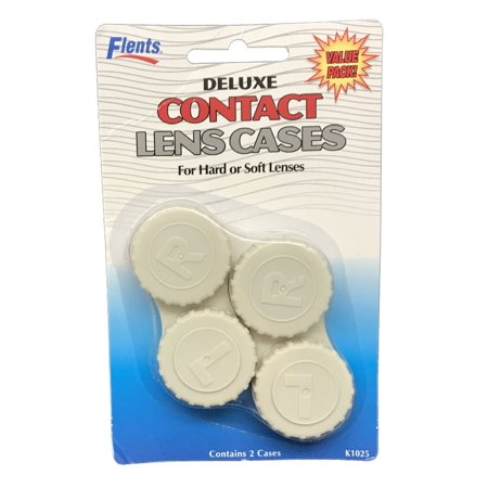 Two Deluxe Contact Lens Cases - For Hard or Soft Lenses Deluxe Contact Lens Kit