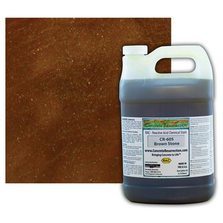 Concrete Resurrection Reactive Acid Concrete Stain Brown Stone