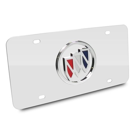Buick Logo Chrome Stainless License Plate ()