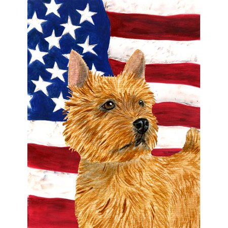 USA American Flag with Norwich Terrier Flag
