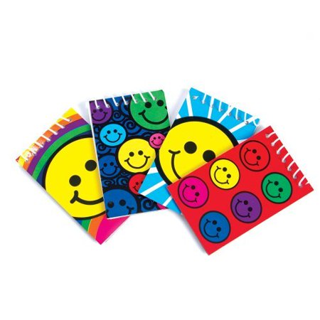 ~ 12 ~ Smile / Smiley Face Spiral Note Pads ~ New ~ Notebooks, Smile Face Party Favors, Memo (Spiral Note)