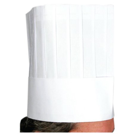 10 Pieces, Professional Look, Disposable White Paper Chefs Hats](Party Chef Hats)