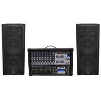 """(2) JBL JRX225 Dual 15"""" 4000w DJ/PA Speakers+Powered 12-Ch. Mixer w/ 7 Band EQ"""