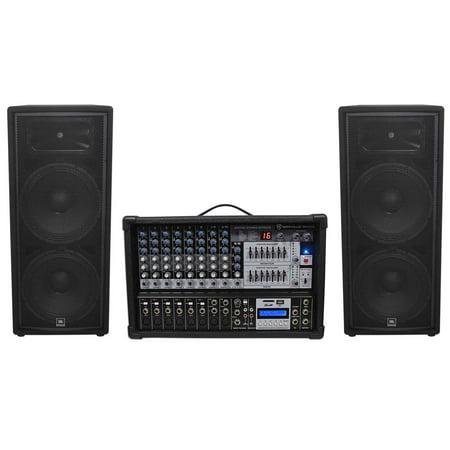 (2) JBL JRX225 Dual 15