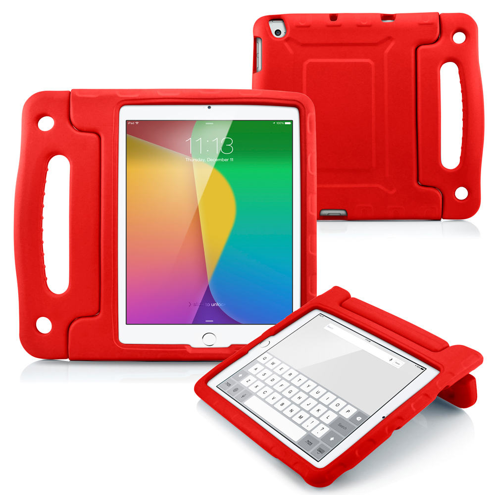 Children Safe Kids Friendly Protective Foam Case Cover Handle Stand for The New iPad 2 3 4