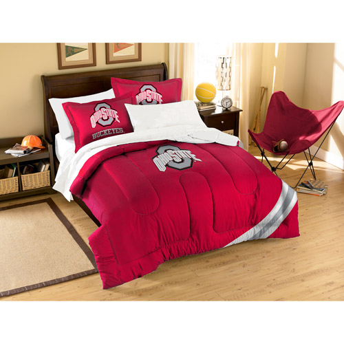 NCAA Applique 3-Piece Bedding Comforter Set, Ohio State