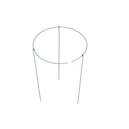 Small Garden Plant Support Rings, Cage, Stakes, Trellis, Gardening Climbing Growing Cages (Pack of 6-7.9