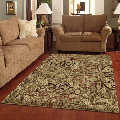 Better Homes and Gardens Iron Fleur Olefin Shag Area Rug Walmartcom