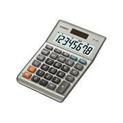 Casio MS-80S 8-Digit Desktop Calculator, Dual Power, LCD Display