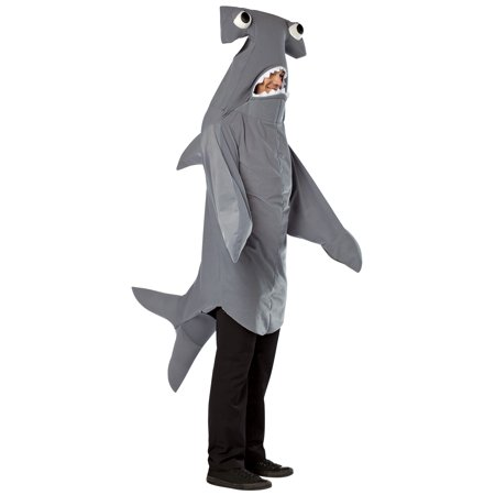 Hammerhead Shark Adult Halloween Costume - One Size - Hammerhead Shark Dog Costume