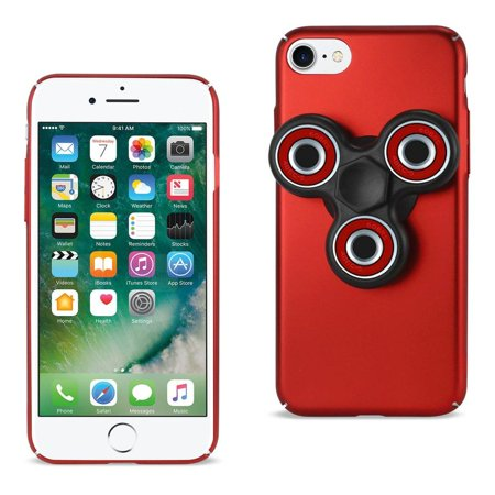 official photos 67088 5e725 Reiko REIKO IPHONE 7/ 6/ 6S CASE WITH LED FIDGET SPINNER CLIP ON IN RED
