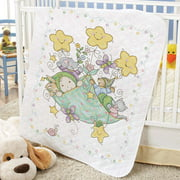 Baby by Herrschners® Pre-Quilted Bundle of Joy Baby Quilt Stamped Cross-Stitch Kit