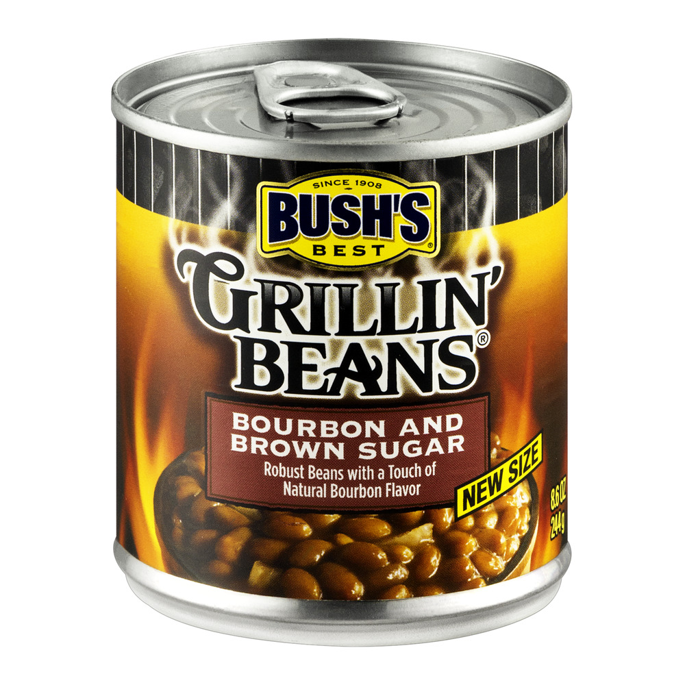 Bush's Best Bourbon and Brown Sugar Grillin' Beans, 8.6 oz by Bush Brothers & Co.