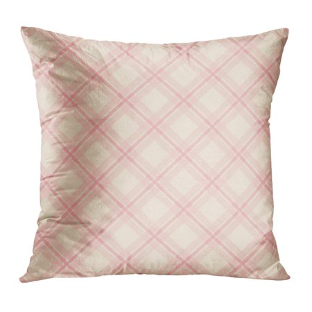 Shabby Chic Wedding - ECCOT Wedding Primitive Retro Plaid in Shabby Chic Abstract Antiques Baby Checkered Delicate PillowCase Pillow Cover 18x18 inch